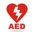 aed emergency defibrillator icon vector image