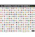 all official national flags world diamond vector image vector image