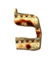 alphabet hebrew passover matzah hebrew letter kaf vector image vector image