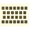 alphabet of early 16th century vector image vector image