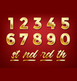 anniversary golden numbers vector image