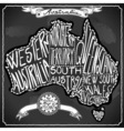Australia Map on Vintage Handwriting BlackBoard vector image
