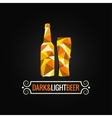 beer bottle poly design background vector image vector image