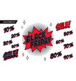 black friday sale set black friday and sale vector image
