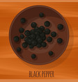 black pepper icon vector image vector image