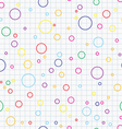 Bubbles seamless background vector image vector image
