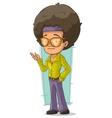 Cartoon handsome disco man in sunglasses vector image vector image