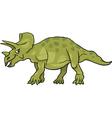 Cartoon of triceratops dinosaur vector image