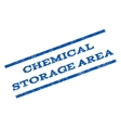 Chemical Storage Area Watermark Stamp vector image vector image
