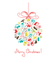 Christmas ball made of a plurality of elements vector image