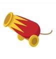 Circus cannon cartoon vector image vector image