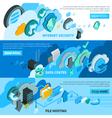 Cloud Services Banners Set vector image