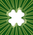 clover background green vector image vector image
