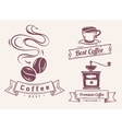 Coffee shop and design elements vector image vector image