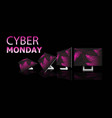cyber monday online sale poster advertising flyer vector image