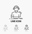 engineer headphones listen meloman music icon in vector image vector image