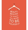 Fashion dress with quote vector image vector image