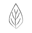 figure natural leaf to ecology preservation icon vector image vector image