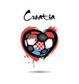 flag of croatia in the form of a heart vector image vector image