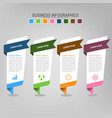 four banners infographics business concept vector image vector image