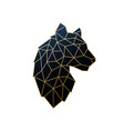 geometric tiger golden polygonal vector image vector image