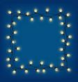 glowing garland frame decorative light garland vector image vector image