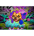 Graffiti wall urban art background vector | Price: 1 Credit (USD $1)