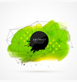 green watercolor grunge with wireframe mesh vector image vector image