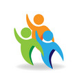 group friends people teamwork icon vector image vector image