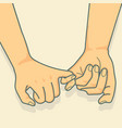 hand to pinky promise vector image vector image