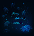 happy thanksgiving greeting card template with vector image vector image