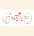 happy valentines daycute cartoonsheep greeting vector image vector image