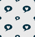 Heart sign icon Love symbol Seamless abstract vector image vector image