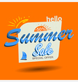 hello summer sale vector image vector image