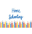 home schooling template in vector image