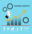 key success graph vector image