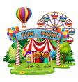 Kids at fun park vector image vector image