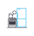 kitchen tools linear icon concept kitchen tools vector image