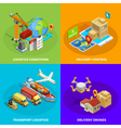 Logistic Isometric Concept vector image vector image