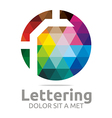 Logo Abstract Lettering R Rainbow Alphabet Icon vector image vector image