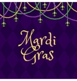 Mardi gras purple background vector image vector image