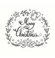 Merry Christmas Card Winter Holiday Typography vector image