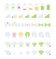 mobile status bar icon gsm battery levels wifi vector image vector image