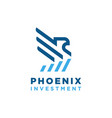 phoenix logo design vector image vector image