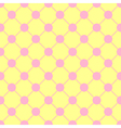 Pink Polka dot Chess Board Grid Yellow vector image vector image