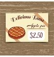 Price Tag Design Apple Pie vector image vector image