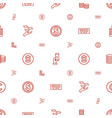 rich icons pattern seamless white background vector image vector image