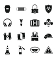 Safety icons set simple style vector image vector image