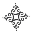 scandinavian handdraw snowflakes sign winter vector image vector image