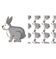 seamless background design with gray rabbit vector image